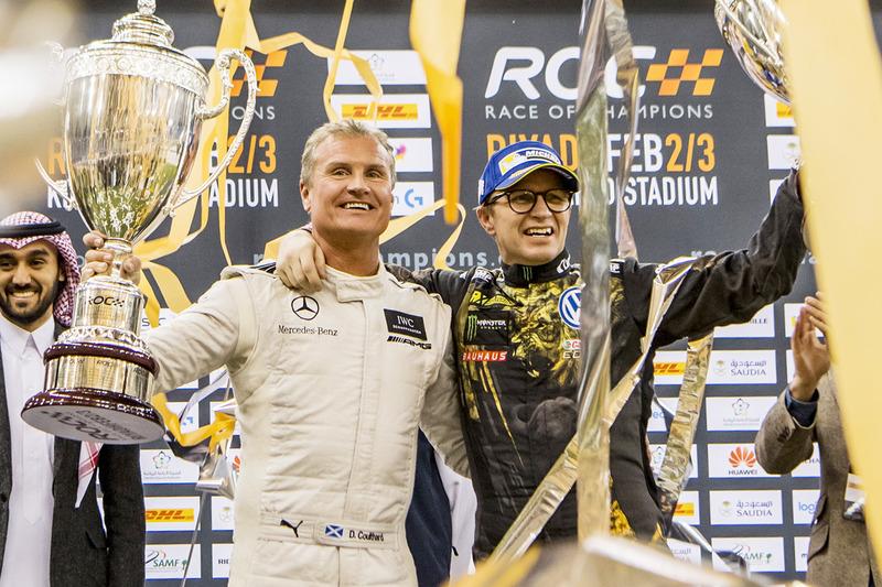 Гонка чемпіонів: Девід Култхард (зліва)