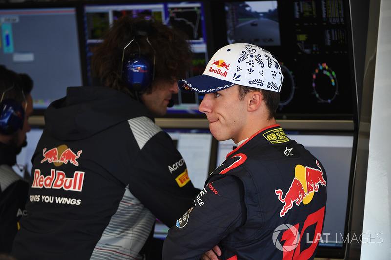 Pierre Gasly, Scuderia Toro Rosso y Marco Matassa, Scuderia Toro Rosso