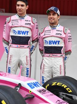 Esteban Ocon, Sahara Force India F1 et Sergio Perez, Sahara Force India