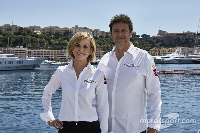 Susie Wolff, Team Principal Venturi Formula E Team, Gildo Pallanca Pastor, owner Venturi Formula E Team