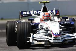 Robert Kubica, BMW Sauber F1.08 celebra su primera victoria