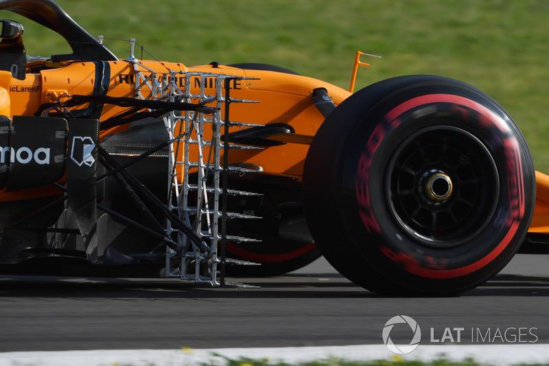 Lando Norris, McLaren MCL33 with aero sensor