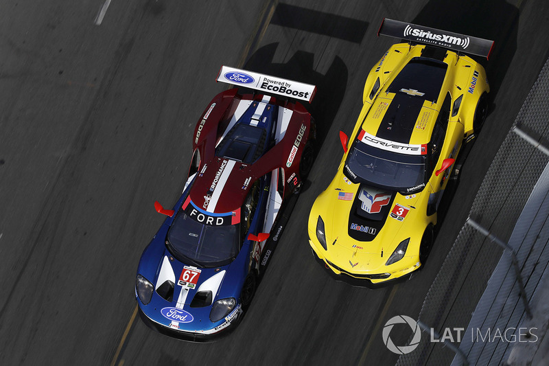 The 2018 IMSA GTLM championship battle was between the #67 Ford GT and the #3 Corvette. Westbrook and Briscoe had to smile bravely as their faster entry ultimately lost out to the slower but more dependable leviathan, despite Antonio Garcia and Jan Magnussen failing to score a race win.