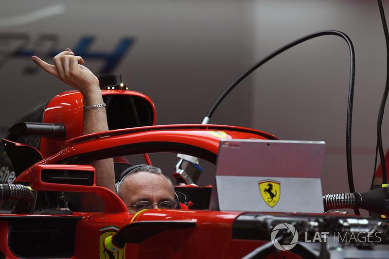 Система Halo на Ferrari SF71H