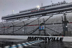 Snow falling on Martinsville Speedway