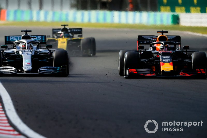 Lewis Hamilton, Mercedes AMG F1 W10, batalla con Max Verstappen, Red Bull Racing RB15