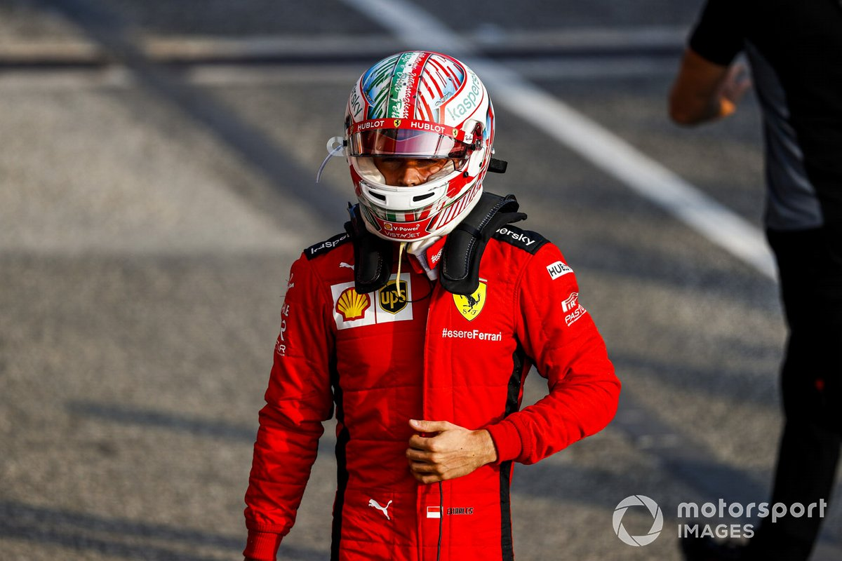 Charles Leclerc's current Ferrari contract will not be subject to the new salary cap