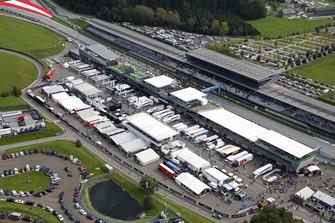 Fahrerlager am Red-Bull-Ring in Spielberg