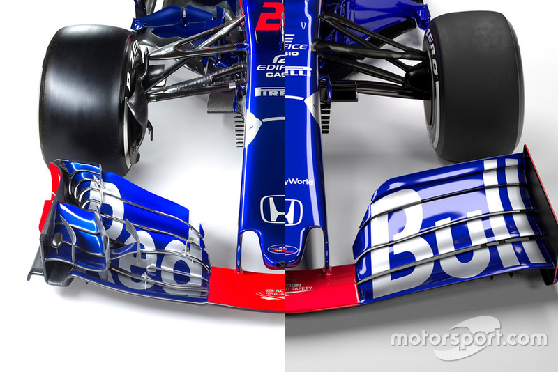 Comparación Toro Rosso STR13 vs. STR14