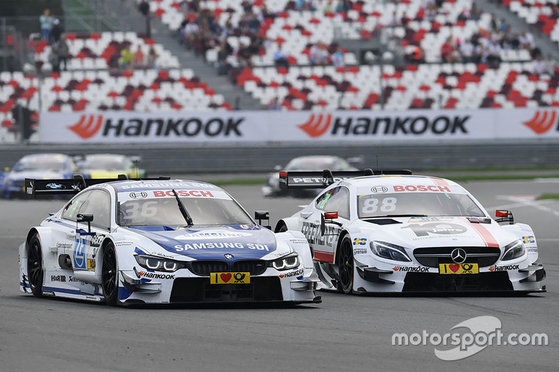 Maxime Martin, BMW Team RBM, BMW M4 DTM and Felix Rosenqvist, Mercedes-AMG Team ART, Mercedes-AMG C 63 DTM DTM