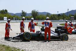 Lewis Hamilton, Mercedes AMG F1 W07 Hybrid and Nico Rosberg, Mercedes AMG F1 W07 Hybrid in the grave
