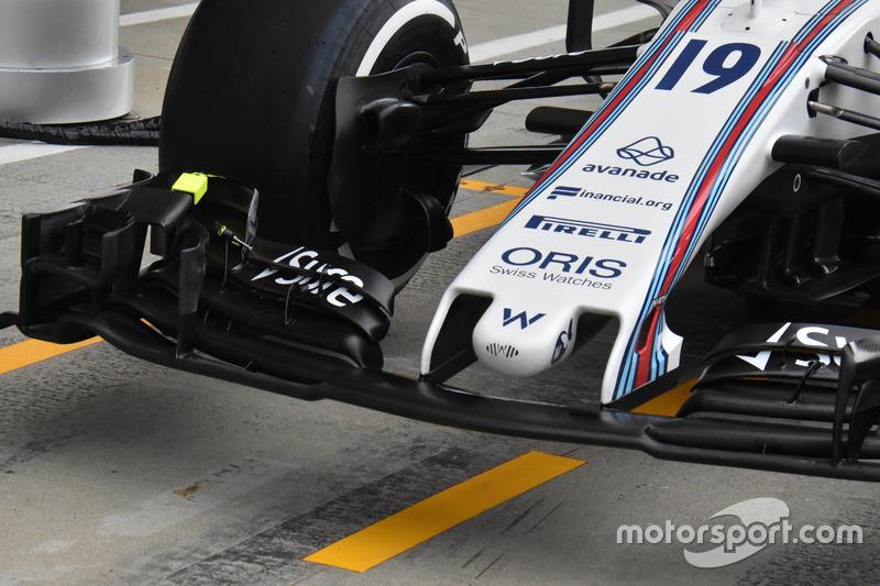 Williams FW40, alerón delantero