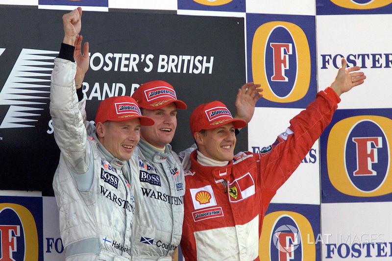 2000: 1. David Coulthard, 2. Mika Häkkinen, 3. Michael Schumacher