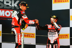 Podio: ganador de la carrera Chaz Davies, Ducati Team, tercer lugar Marco Melandri, Ducati Team