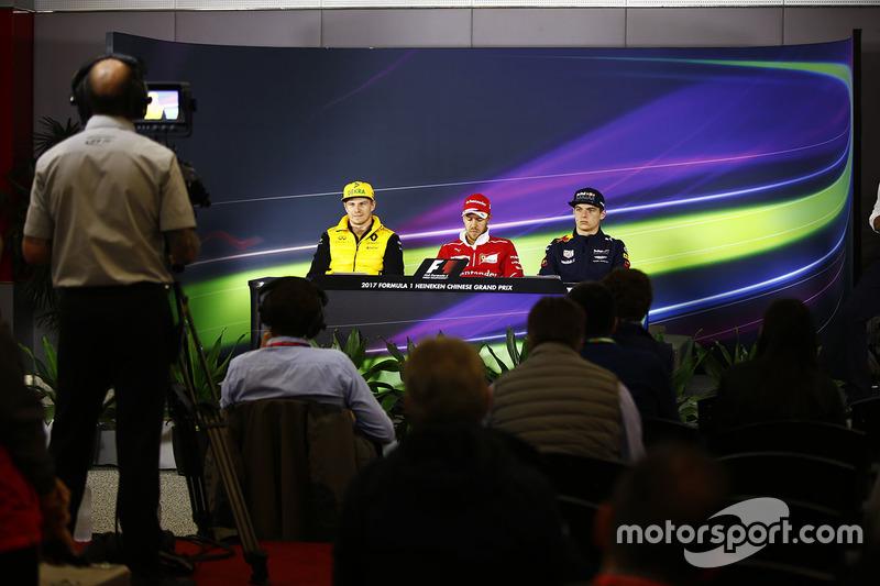 Thursday press conference: Nico Hulkenberg, Renault Sport F1 Team, Sebastian Vettel, Ferrari, Max Ve