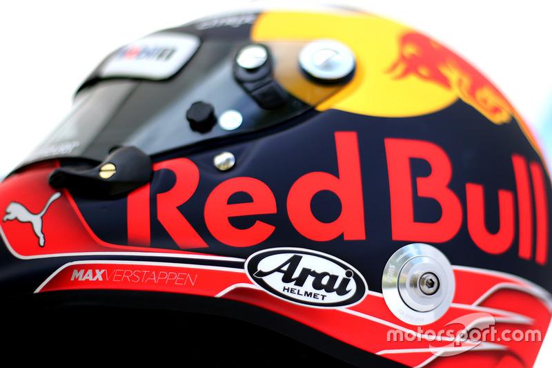 Helm von Max Verstappen, Red Bull Racing