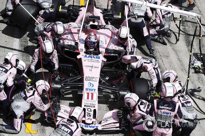 Пит-стоп: Серхио Перес, Sahara Force India F1 VJM10