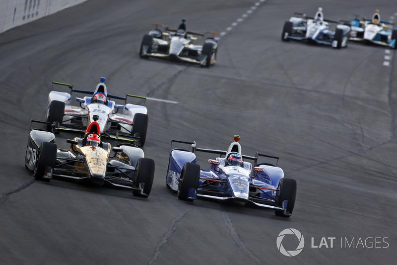 Takuma Sato, Andretti Autosport Honda, James Hinchcliffe, Schmidt Peterson Motorsports Honda
