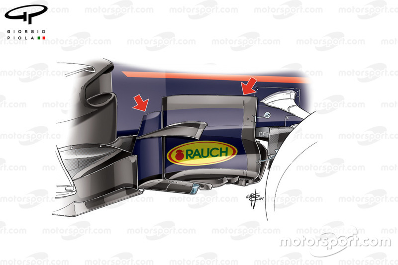 Red Bull RB13 bargeboard, Bakú