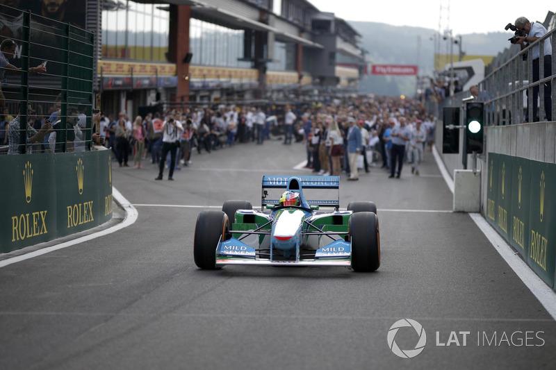 Mick Schumacher au volant de la Benetton B194-5