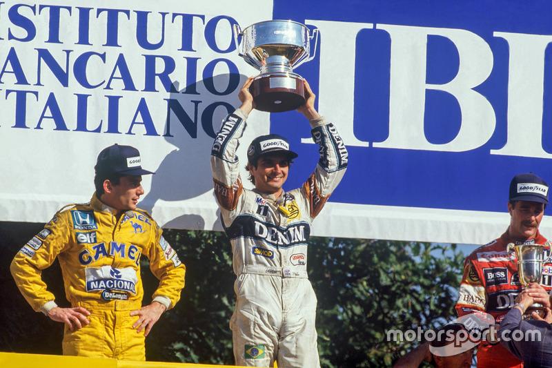 Podyum: 1. Nelson Piquet, Williams, 2. Ayrton Senna, Team Lotus, 3. Nigel Mansell, Williams