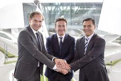 Oliver Blume, Porsche-Geschäftsführer, Alejandro Agag, Formel-E-Boss, Michael Steiner, Porsche-Entwicklungschef