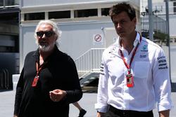 Flavio Briatore, Toto Wolff, Mercedes AMG F1 Director of Motorsport