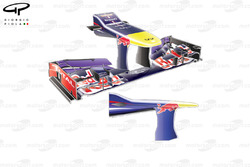 Red Bull RB9 front wing, low downforce configuration