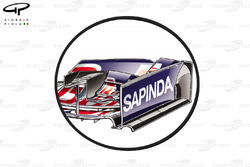 Toro Rosso STR9 front wing, old specification as reference