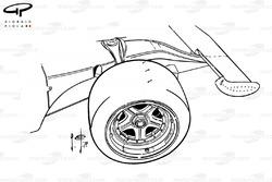 Ferrari 312B3 1974 front wheel and wing