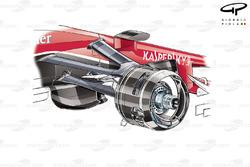 Ferrari SF15-T front caliper