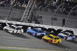 Brad Keselowski, Team Penske Ford, Aric Almirola, Richard Petty Motorsports Ford, Joey Logano, Team Penske Ford and Ricky Stenhouse Jr., Roush Fenway Racing Ford