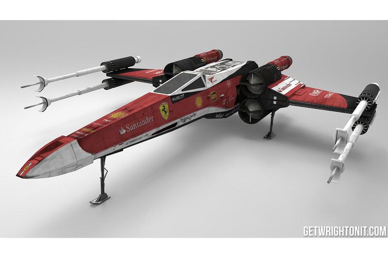X-Wing im Ferrari-Design