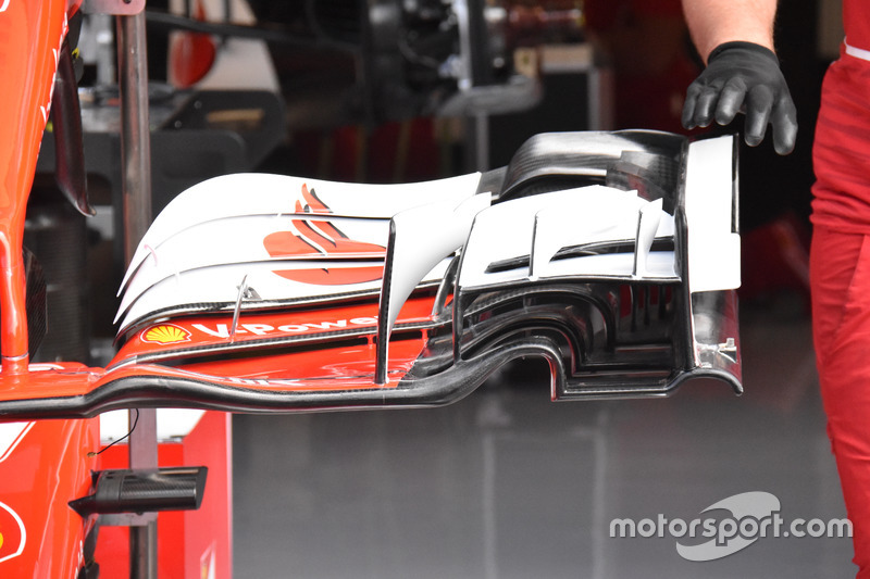Ferrari SF70H, detail frontwing