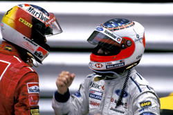 Michael Schumacher, Ferrari and Rubens Barrichello, Stewart Ford