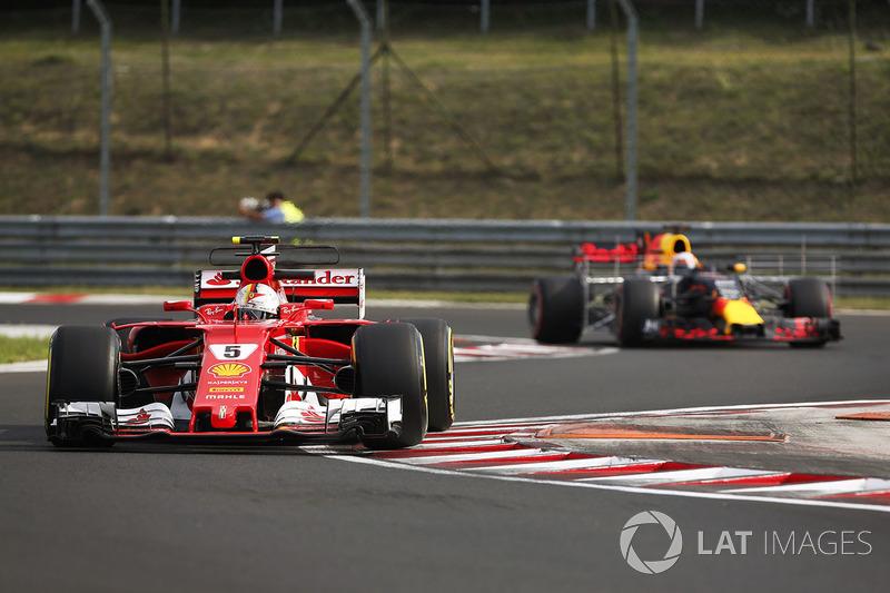 Себастьян Феттель, Ferrari SF70H, П'єрр Гаслі, Red Bull Racing RB13