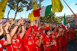 Ferrari team mechanics
