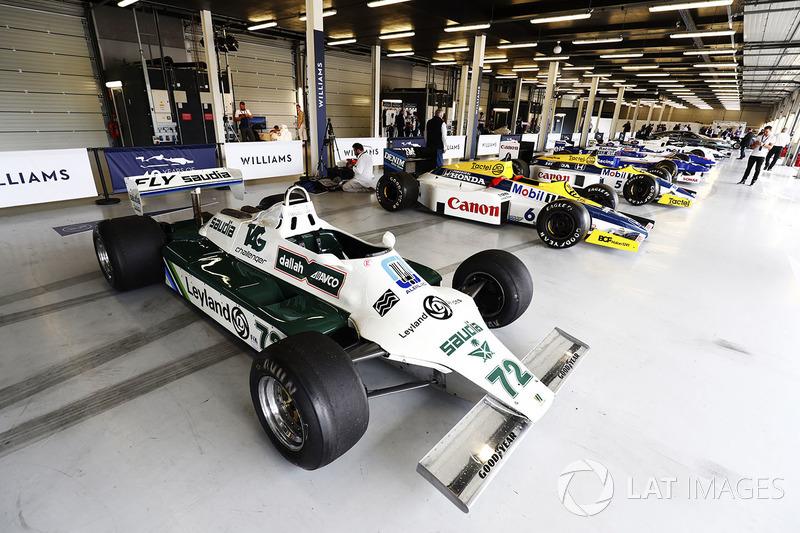 Williams FW07B, Williams FW10 Honda, FW11 та інші класичні машини у гаражі Сільверстоуна