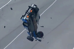 Scott Dixon, Chip Ganassi Racing Honda involved in a huge crash