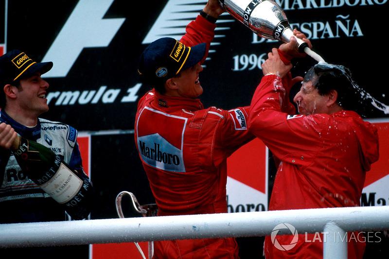 Вместе с ним Шумахер завоюет еще пять чемпионских титулов в Скудерии.