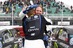 1. Johan Kristoffersson, PSRX Volkswagen Sweden VW Polo GTI; 2. Petter Solberg, PSRX Volkswagen Sweden VW Polo GTI