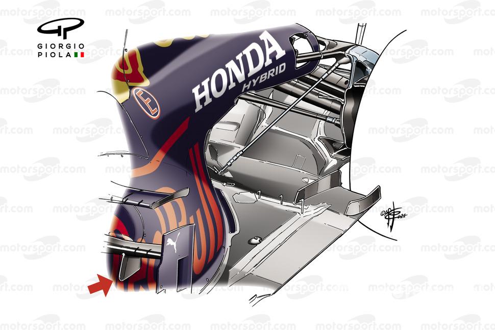 Red Bull Racing RB16B rear suspension