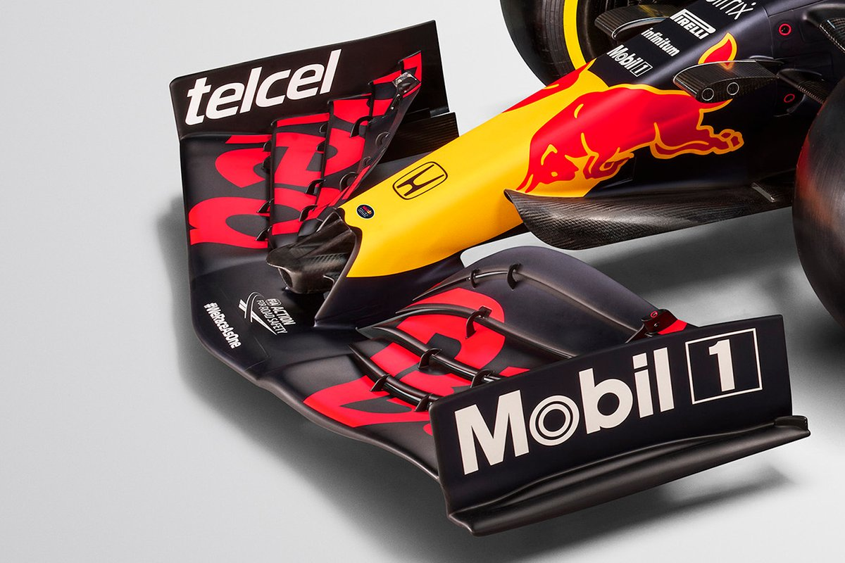 Detail sayap depan Red Bull Racing RB16B.