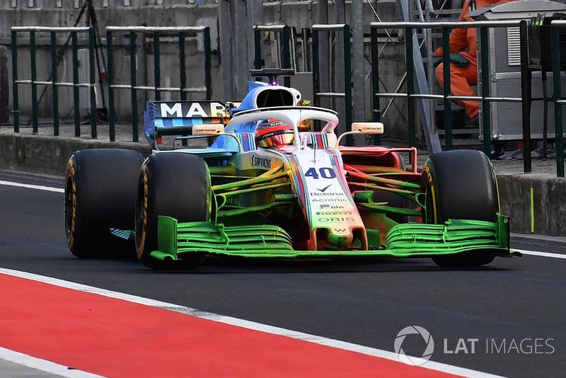Robert Kubica, Williams FW41, con parafina
