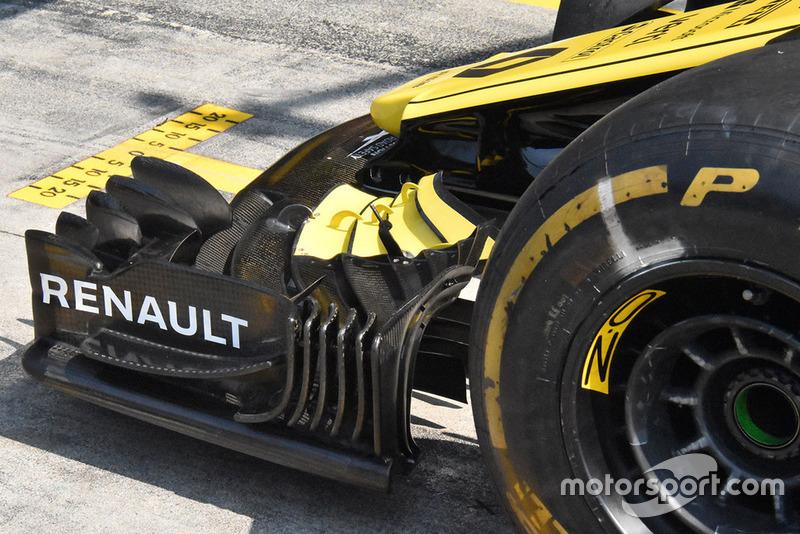 Renault F1 ön kanat detay