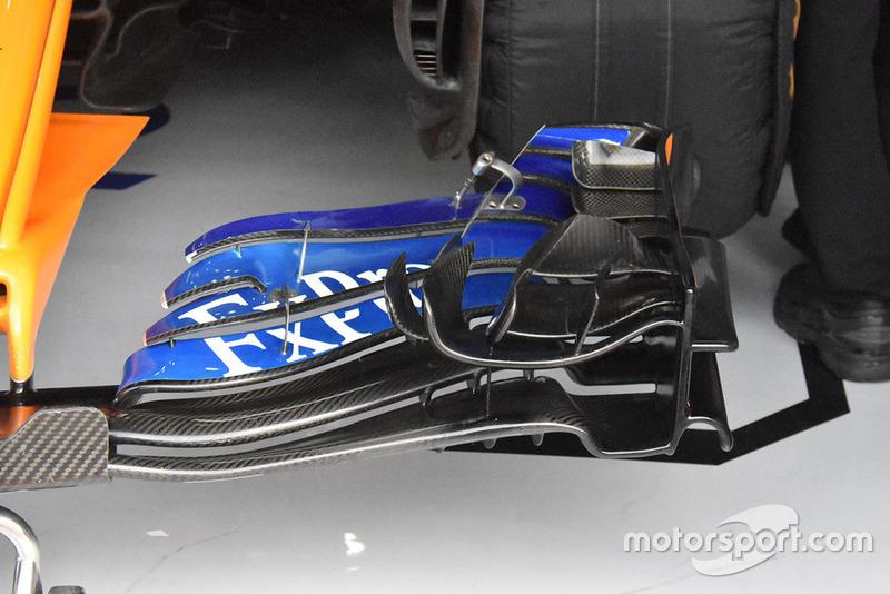 McLaren, első szárny, részlet