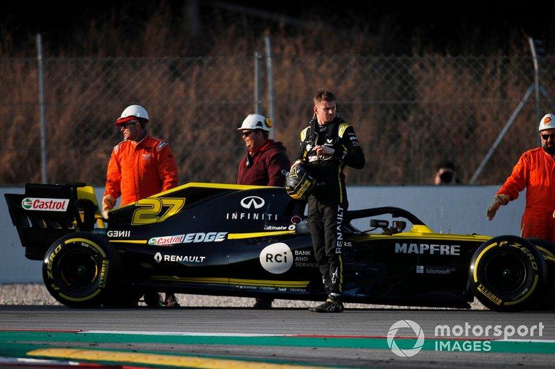 Nico Hulkenberg, Renault F1 Team R.S. 19 detenido en la pista