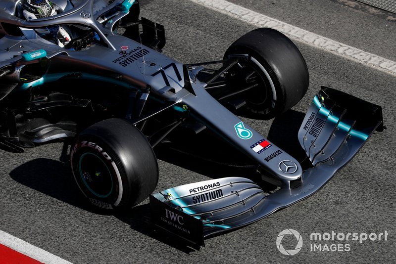 Valtteri Bottas, Mercedes-AMG F1 W10 nose and front wing