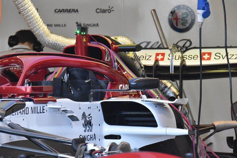 Alfa Romeo C38, dettaglio della fiancata: in evidenza il cono antintrusione