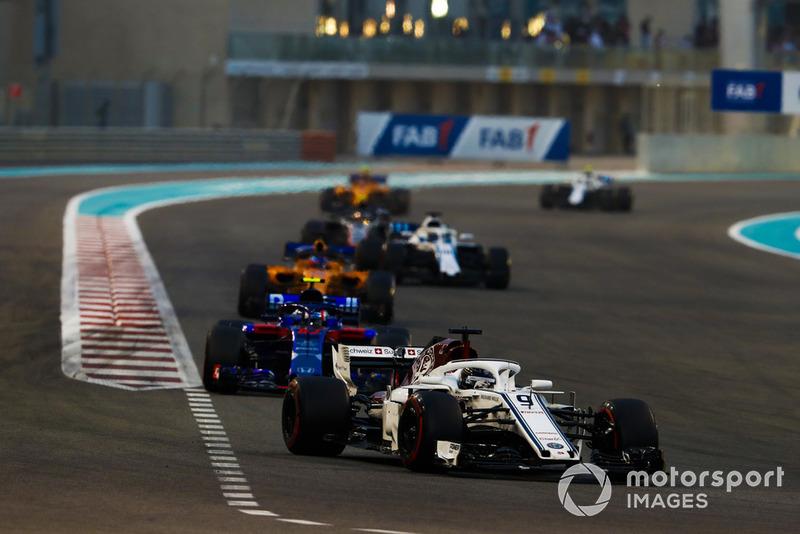 Маркус Ерікссон, Sauber C37, П'єр Гаслі, Scuderia Toro Rosso STR13, Фернандо Алонсо, McLaren MCL33, Ленс Стролл, Williams FW41